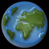 Shiney earth design. Shiney Illustration of view of earth Stock Photography
