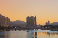 Shing Mun River, Shatin, Hong Kong Foto de archivo libre de regalías