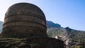 Shingardara buddistisk stupa i flugsmälladalen Pakistan Royaltyfria Foton