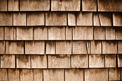 Shingle Aged Wooden  Background Stock Images
