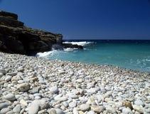 Shingle beach. At vrouhas, crete, greece royalty free stock photo
