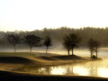 Shingle Creek at Dawn. The Florida sun is rising over a cool golf course near Orlando Stock Photo