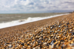 Beautiful beach gravel in Hythe Royalty Free Stock Photography