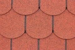 Shingle. A macro of red asphalt shingle Royalty Free Stock Image