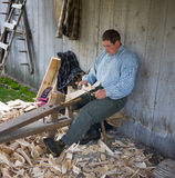 Shingle Making at the Tunbridge World's Fair Royalty Free Stock Photography