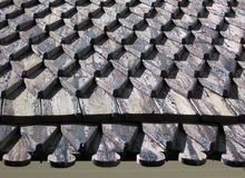 Shingle roof Royalty Free Stock Images