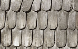 Shingle roof. Detail at a historic building Royalty Free Stock Photo
