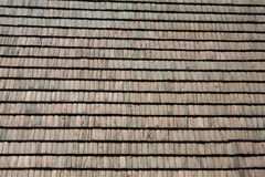 Shingle roof. Wooden shingle roof on the country house Royalty Free Stock Photo