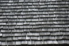 Shingle roof in black and white Royalty Free Stock Images