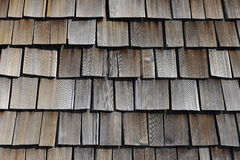 Shingle Roof. Bleached shingle roof of a mountain hut Stock Photos