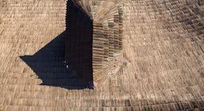 Shingle on the roof. Oravski grad stock images