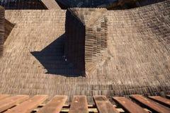 Shingle on the roof. Oravski grad royalty free stock image