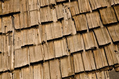Shingle Roof Texture. Grungy cedar wood roof shingles for background or texture Stock Photography