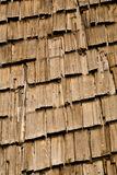 Shingle Roof Texture. Grungy cedar wood roof shingles for background or texture Royalty Free Stock Images