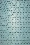 Shingle roof tiles. Close-up of gray shingle roof tiles on a Queen Anne home Stock Image