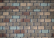 Shingle roofing. Shingle roof pattern for textured background Stock Photos