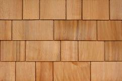Shingle Siding Background. Background of Newly Installed Cedar Shingle or Shake Siding or Roofing Royalty Free Stock Photos