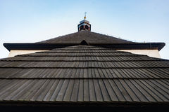 Shingle wood roof tile surface architecture Stock Photos