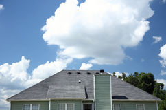 Shingled roof of a home Stock Photo