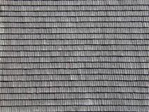 Shingled roof pattern. A roof of an old wooden house Stock Photo