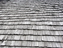 Shingles. Wooden roof shingles royalty free stock image
