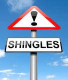 Shingles concept. royalty free stock images