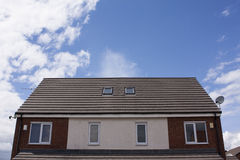 Shingles roof or Contemporary style. Of modern home Stock Images