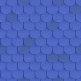 Shingles roof seamless pattern Stock Photos