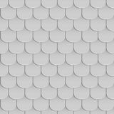 Shingles roof seamless pattern. Gray color. Classic style. Vector illustration Royalty Free Stock Image