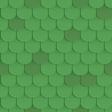 Shingles roof seamless pattern Stock Image