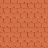 Shingles roof seamless pattern Stock Photo