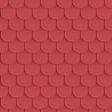 Shingles roof seamless pattern. Red color. Classic style. Vector illustration Royalty Free Stock Image