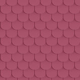 Shingles roof seamless pattern Royalty Free Stock Image