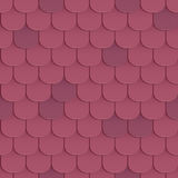 Shingles roof seamless pattern Stock Images