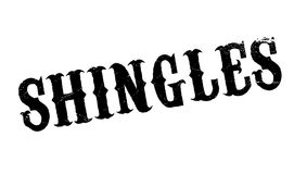 Shingles rubber stamp Royalty Free Stock Photo