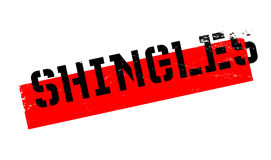 Shingles rubber stamp Stock Image