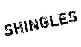 Shingles rubber stamp Stock Photography