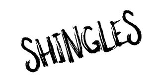 Shingles rubber stamp. Grunge design with dust scratches. Effects can be easily removed for a clean, crisp look. Color is easily changed Stock Image