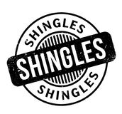 Shingles rubber stamp. Grunge design with dust scratches. Effects can be easily removed for a clean, crisp look. Color is easily changed Royalty Free Stock Photos