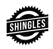 Shingles rubber stamp. Grunge design with dust scratches. Effects can be easily removed for a clean, crisp look. Color is easily changed Royalty Free Stock Photo