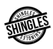 Shingles rubber stamp. Grunge design with dust scratches. Effects can be easily removed for a clean, crisp look. Color is easily changed Royalty Free Stock Photography