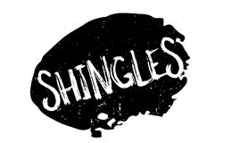 Shingles rubber stamp. Grunge design with dust scratches. Effects can be easily removed for a clean, crisp look. Color is easily changed Stock Photography