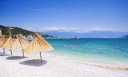 Shingly Beach In Baska, Croatia Stock Image