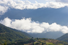 Shingyer village in Ura Valley Bumthang, Stock Image