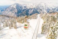 Shinhotaka-Drahtseilbahn Takayama Gifu, Japan Stockfoto