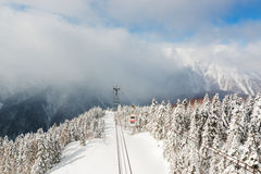 Shinhotaka Ropeway, Cable car station, Takayama Gifu, Japan. Stock Photography