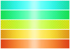Shinig banner set (01) Royalty Free Stock Image