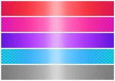Shinig banner set (02) Royalty Free Stock Photos