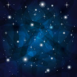 Shining Abstract Dark Blue Background. With stars Royalty Free Stock Photos