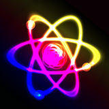 Shining atom vector scheme Royalty Free Stock Photo